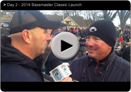 Day 2 of the 2014 Bassmaster Classic with Randall Tharp